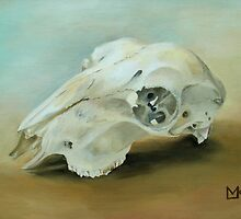 Sheep Skull by Lynne  M Kirby BA(Hons)