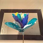 Framed Blue Tulip by Freyart