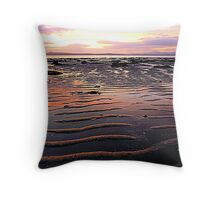 Low Tide At Mill Bay Throw Pillow