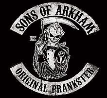 Sons Of Arkham STICKER, PRINT, I PAD, PHONE by Scott Neilson Concepts