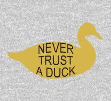 Never Trust A Duck Kids Clothes