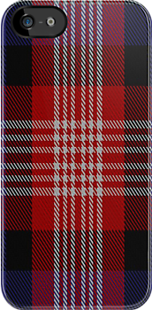 01555 American Bi-Centennial Commemorative Tartan Fabric Print Iphone Case by Detnecs2013