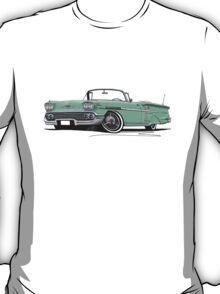 Chevrolet Bel Air Impala Convertible (1958) Light Green T-Shirt