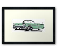 Chevrolet Bel Air Impala Convertible (1958) Light Green Framed Print