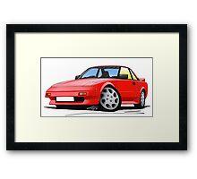 Toyota MR2 (Mk1) Red Framed Print