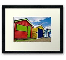 Colour wheel - Brighton Beach Boxes - Australia Framed Print
