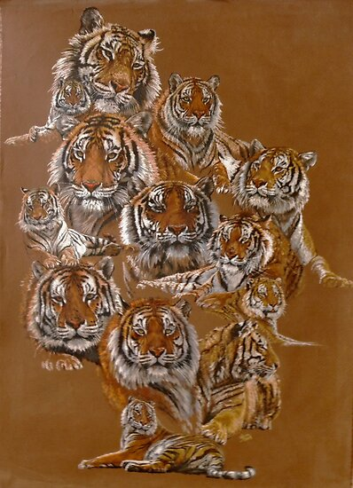 The Tigers of Noah's Lost Ark by BarbBarcikKeith