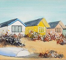 Beach Huts - Mudeford Spit (2) by FrancesArt