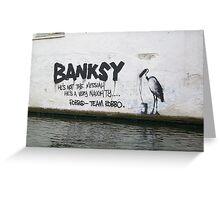 Camden Lock Banksy Greeting Card