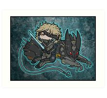 Raiden and Wolf Art Print