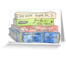 Jane Austen Books Greeting Card