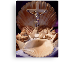 The Jesus Shell Canvas Print