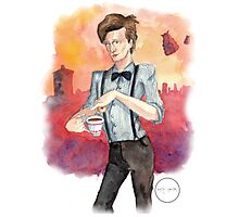 Tea, Jammy Dodgers & Daleks Photographic Print
