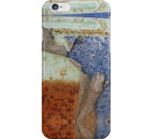 Rust and Blue - Peel Away iPhone Case/Skin