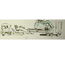 big rig with earth mover Photographic Print