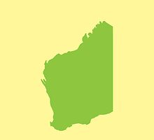 WA Western Australia map of the state  by jazzydevil