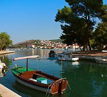 Waterfront view of Trogir in Croatia by kirilart