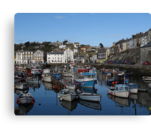 Cornwall, the port of Mevagissey Canvas Print