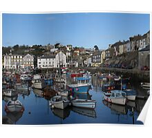 Cornwall, the port of Mevagissey Poster