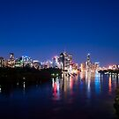 12 month Calendar - Brisbane City at Night  by Jack McClane