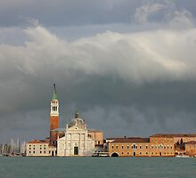 Church of San Giorgio Maggiore after the storm by kirilart