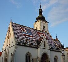 Saint Mark's Church in Zagreb Croatia by kirilart