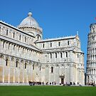 Piazza dei Miracoli with the Leaning Tower in Pisa by kirilart