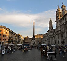 Piazza Navona at Sunset by kirilart