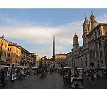 Piazza Navona at Sunset Photographic Print