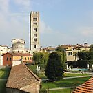 Basilica di San Frediano with palazzo Pfanner gardens by kirilart