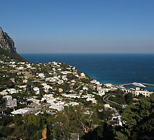 Capri view of Marina Grande by kirilart