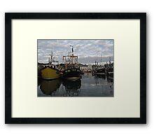 Cornwall Mevagissey harbor Framed Print