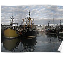 Cornwall Mevagissey harbor Poster