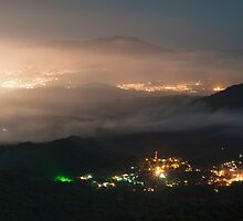 Colombia - The Village Minca at night by Christian Werthenbach
