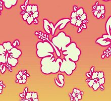 Hawaiian Sunset Floral Wallpaper iPhone iPod Case by wlartdesigns