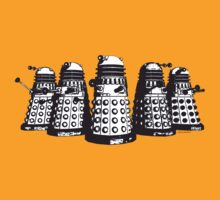 Daleks! (Black + White) by Sharknose