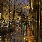 Evening Rain in Paris by Oleg Trofimoff