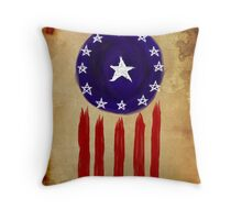History of The Courier Throw Pillow