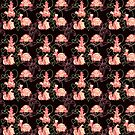 Black and Pink Turtle Pattern by SaradaBoru