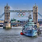 Olympic Rings  London 2012 - Tower Bridge by Colin J Williams Photography