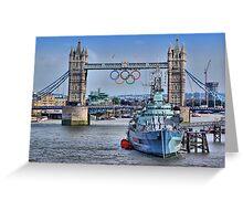 Olympic Rings  London 2012 - Tower Bridge Greeting Card