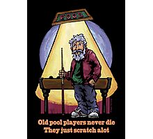 Old Pool Players Photographic Print