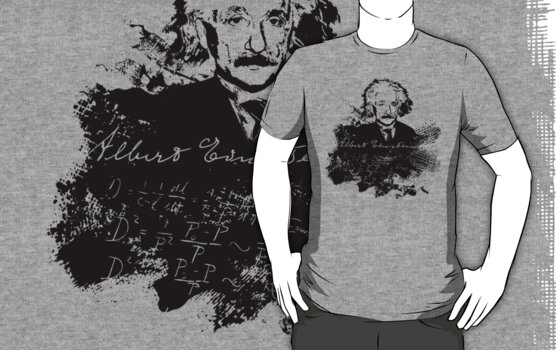Albert Einstein - Theoretical Physicist - A Nerdy Tribute Design - Einstein Equation Shirt by traciv