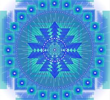 Blue Vibration Mandala Calendars 2014 by Sarah Niebank