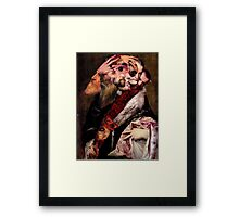 Artist Reaching for a Dagger. Framed Print