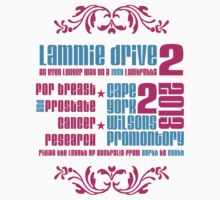 Limited edition Lammie Drive 2  tour T- Shirt by chalkyscoot