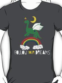 """Follow Your Dreams"" Mystical Dinosaur T-Shirt"