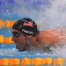 Michael Phelps Photo Painting by art-hammer
