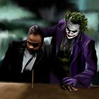 Dark Knight Heath Ledger Joker Painting by art-hammer