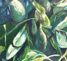 Avocado Lights (acrylic) by Niki Hilsabeck
